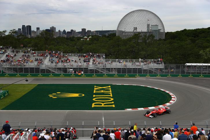 Kimi Räikkönen a 2017-es Kanadai Nagydíjon Montreálban