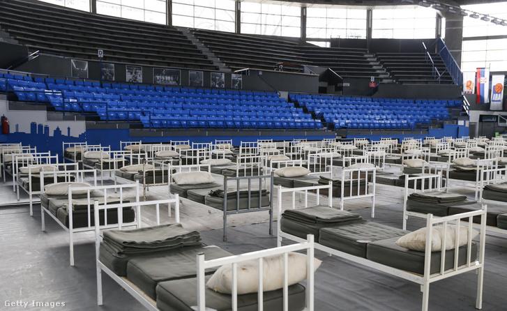 A Ranko Zeravica sportcsarnok 2020. április 1-jén Belgrádban.