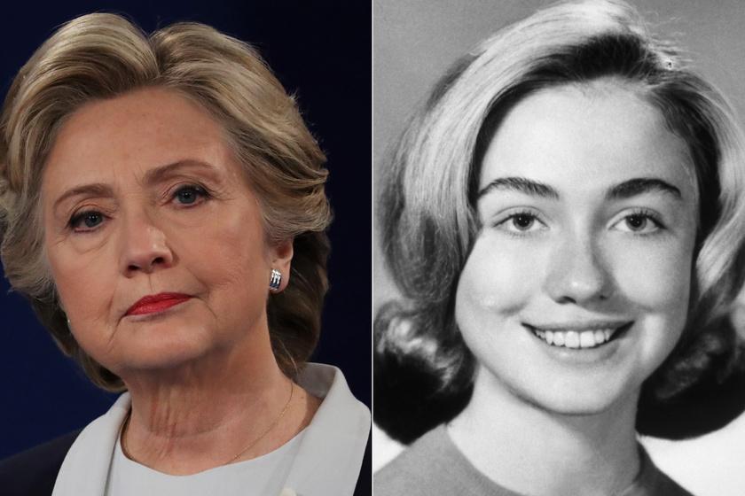 Hillary Clinton 18 éves korában nagyon szép lány volt.