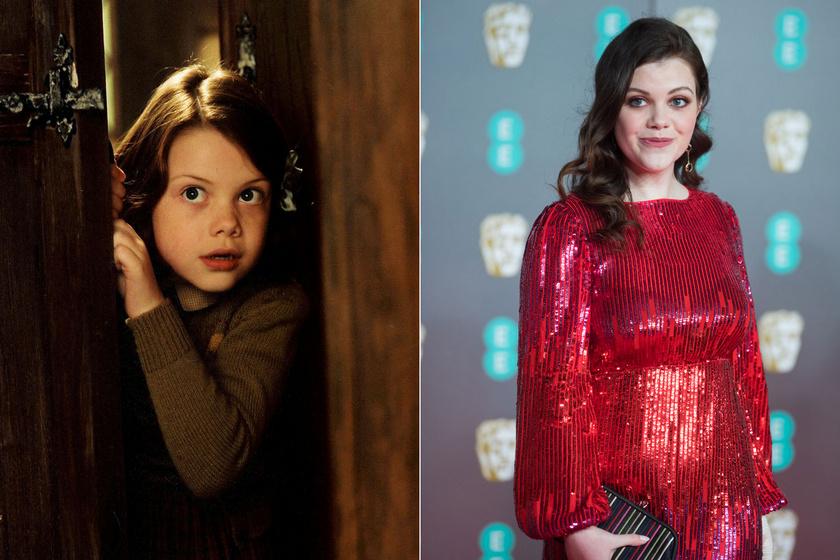 Georgie Henley csak tízéves volt mikor az első részt forgatták. Azóta barna szépség lett belőle.