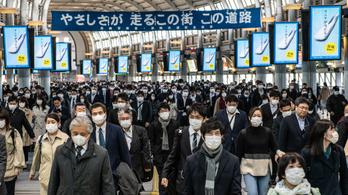 Rekordot döntött a fertőzöttek napi növekedésének száma Japánban