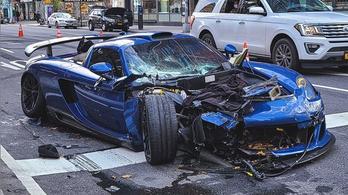 Összetörte 250 milliós autóját és öt másikat a bedrogozott sofőr