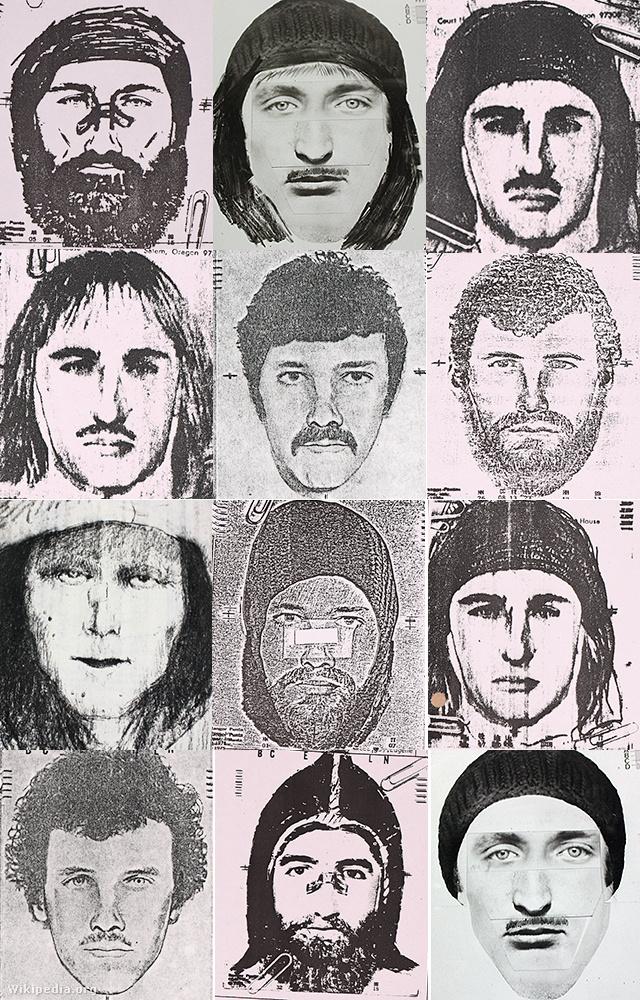 Woodfieldről készült rendőrségi fantomképek 1980-81-ből