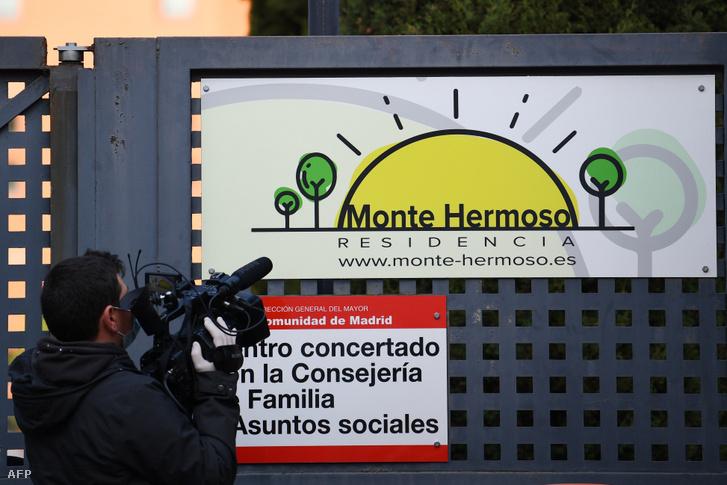 A Monte Hermoso idősek otthona bejárata