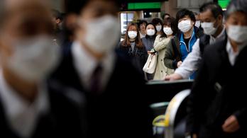 Ötödik napja csúcson az új fertőzöttek száma Japánban