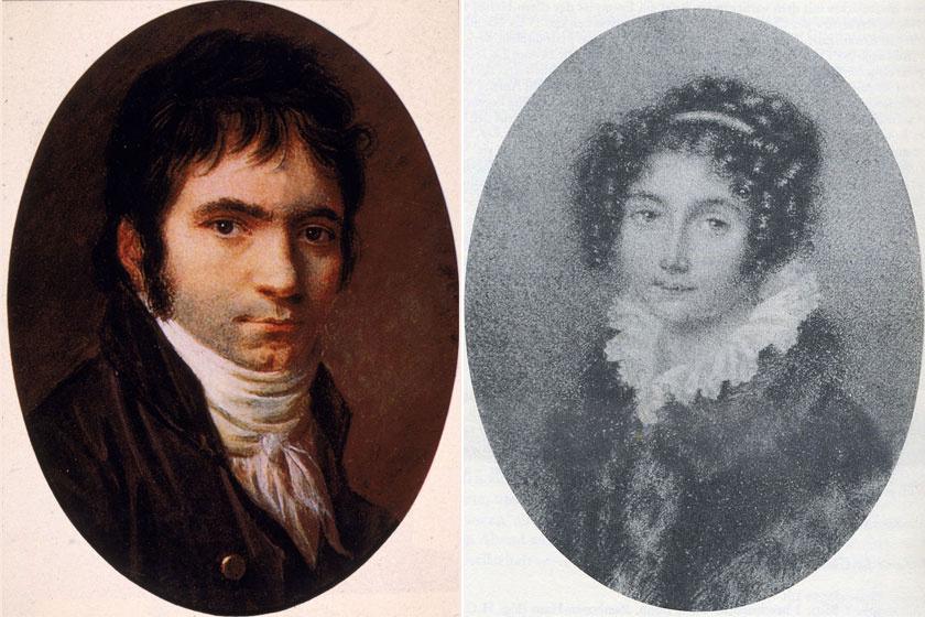 A fiatal Ludwig van Beethoven és Brunszvik Jozefin