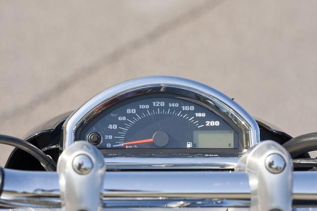 Az idősebb Easy Riderek olvasószemüveg nélkül is látják a műszert, annyira messze van