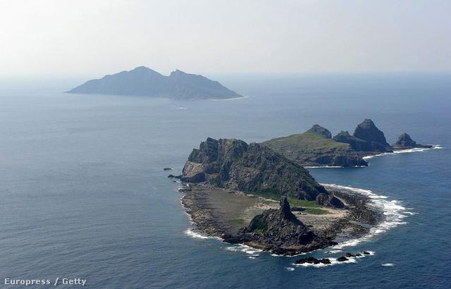Légifotó a Senkaku szigetekről