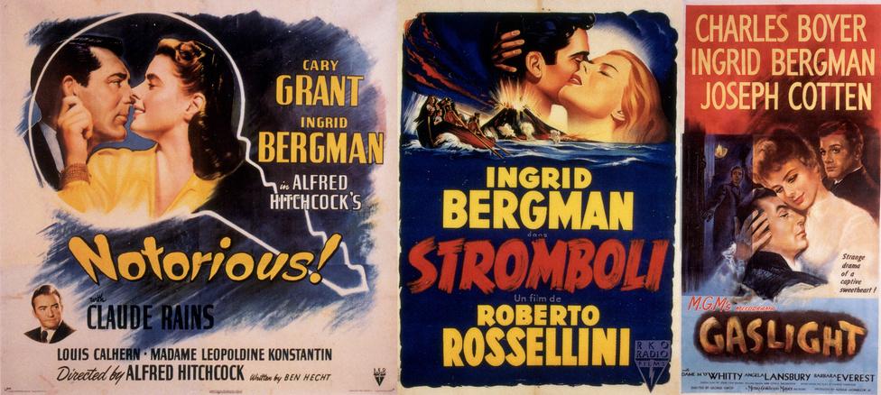 A negyvenes évek második felében Bergman mindenkit elbűvölt, nem csak a nézőket. Alfred Hitchcock egyik kedvenc színészének tartotta, és állítólag gyengéd érzéseket is táplált iránta. Vele forgatta a Forgószél című filmjét, melyben megjósolta az uránium katonai alkalmazását. A Stromboli forgatása közben a rendező, Roberto Rossellini és Bergman egymásba szerettek. A Gázláng című filmjéért Bergman megkapta első Oscar díját.