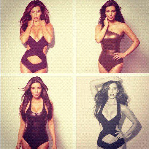 Kim Kardashian és a mellei.
