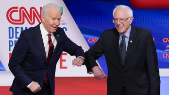 Sanders beállt Biden mögé Trump ellen