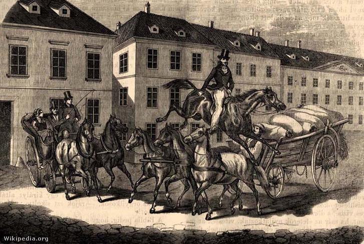 Sándor Móric két lovas kocsi közé szorulva, kiugrik Tatár nevű lovával