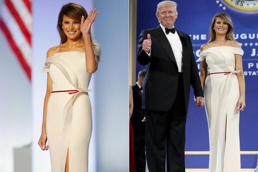 Melania Trump 2017 januárjában álomszép volt ebben a Hervé estélyijében.