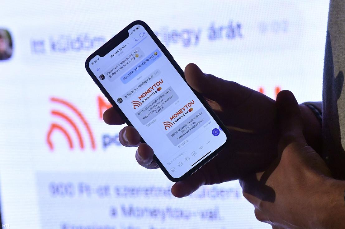 Az új Viber funkció a Mastercard MoneySend technológiáján alapuló Moneytou szolgáltatás bemutatója Budapesten 2019. október 3-án.