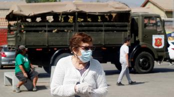 Chilében már öt év börtön is járhat a karantén megsértéséért