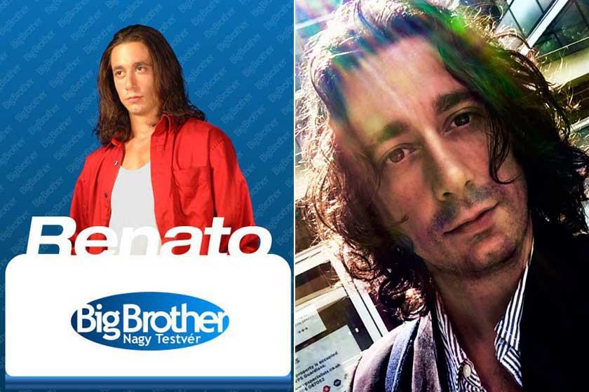 Renato a Big Brotherben és napjainkban - alig változott a külseje.