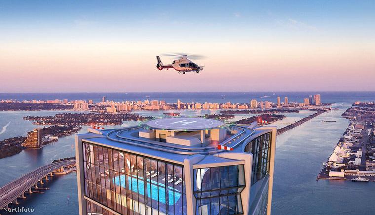 Az egyik legfancybb tulajdonsága, hogy egy saját helikopter-leszállópályája is van, ami Beckhamék is meg tudnak közelíteni saját lakásukból