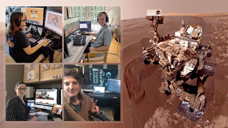 Otthonról irányítják az űrhajósok a Curisoty marsjárót.