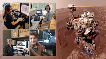 Home office közben, a nappaliból irányítják a Curiosity marsjárót