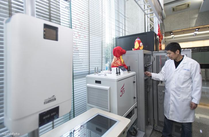 5G tesztállomás Vuhanban 2018-ban