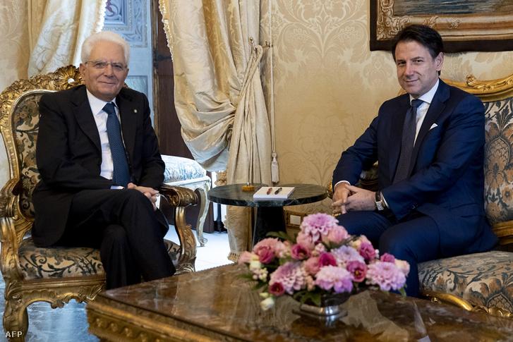 Sergio Mattarella és Giuseppe Conte római találkozója 2019. augusztus 28-án