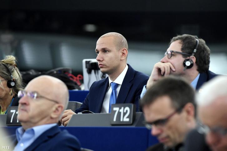 Rónai Sándor a Demokratikus Koalíció (DK) képviselõje az Európai Parlament (EP) plenáris ülésén Strasbourgban 2019. július 16-án.