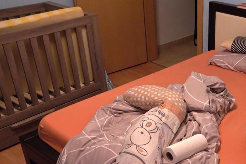 Egyelőre Medox kiságya is a hálószobájukban kapott helyet.