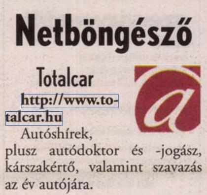 Kiemelkedő helyen a Kisalföldben - erre nem kell büszkéknek lennünk.                         Kisalföld - 2002/02/04