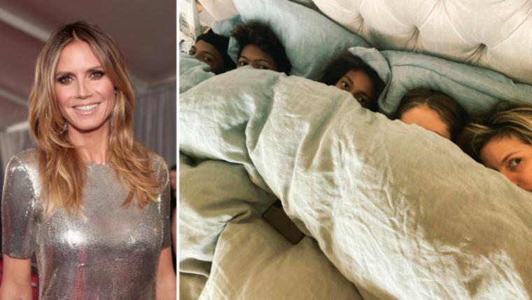 Ahogy az előbbi, úgy lapozgatónk utolsó képe is az Instagramról származik: Heidi Klum mindössze ennyit volt hajlandó követőivel megosztani gyermekeiből