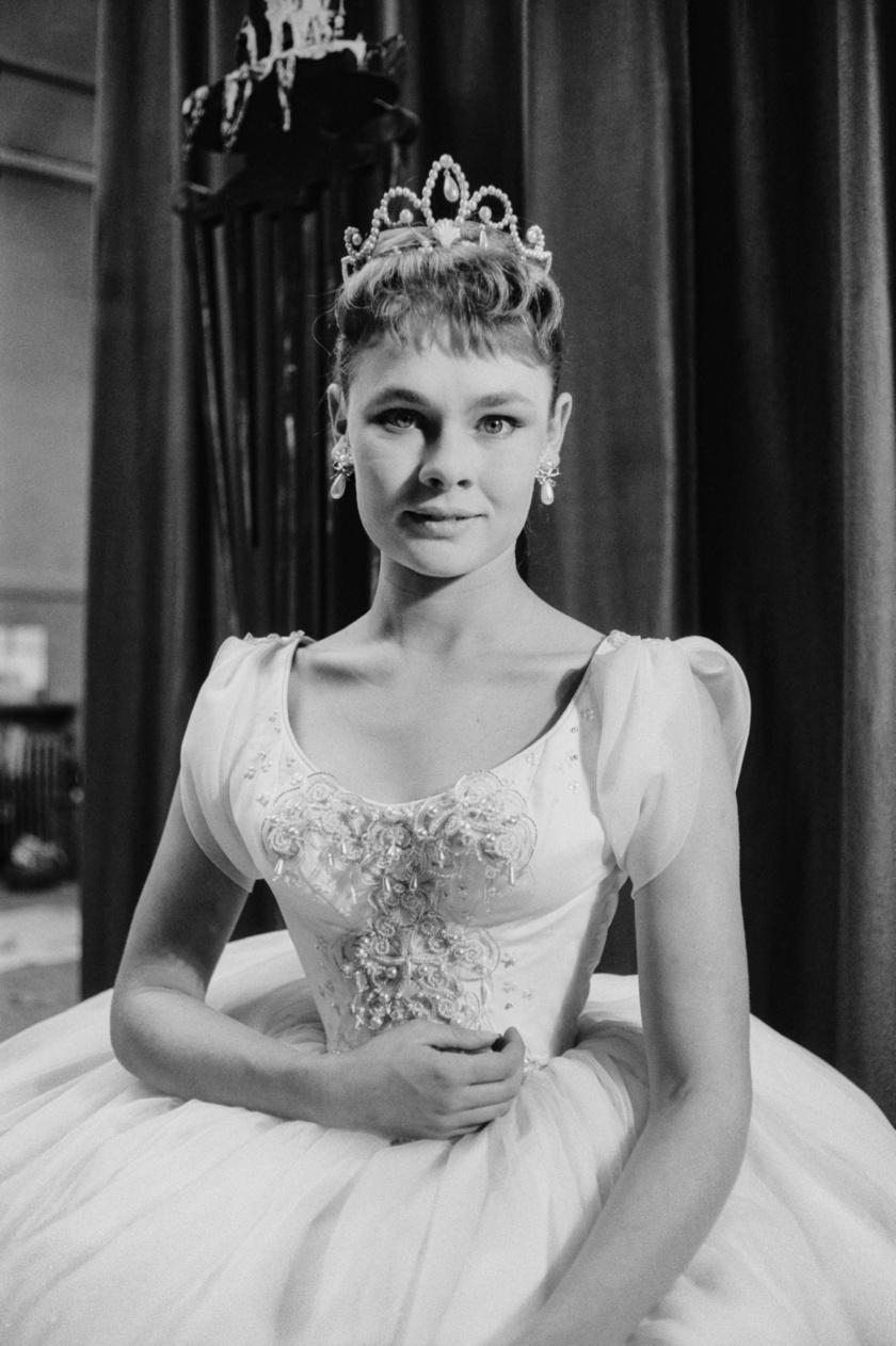 Így festett, amikor Hamlet szerelmét, Opheliát játszotta 1957-ben.