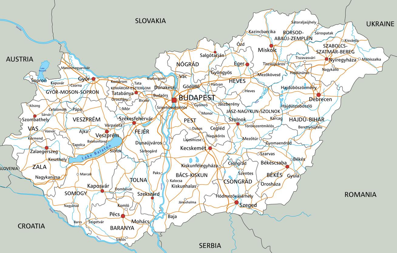 magyarország közigazgatási térkép