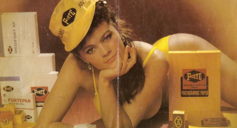 3. Koncz Katalin a Forte Fotokémiai Ipar Vállalat reklámjában.