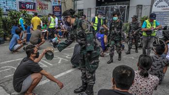 A tűzparancs nem elég, a hadsereggel fenyegeti a Fülöp-szigeteki elnök a kijárást megszegőket