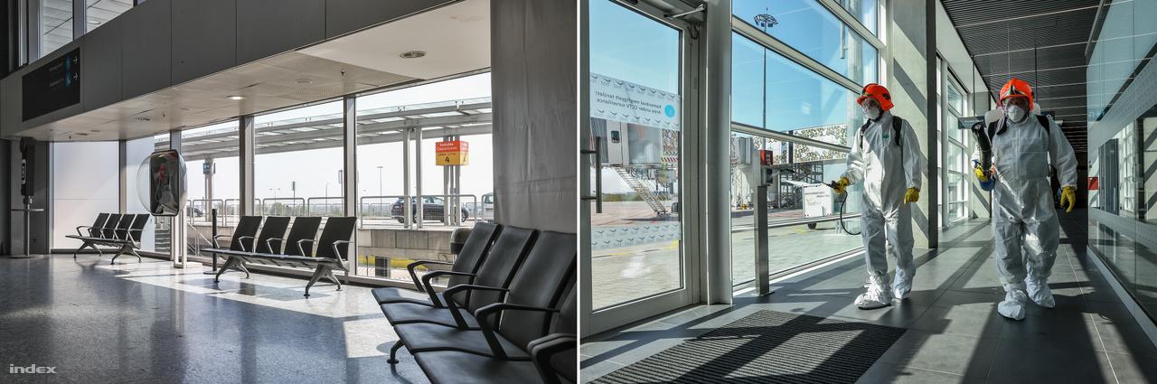 Ahhoz, hogy járványszempontból biztonságosan üzemeljen a reptér, folyamatosan fertőtleníteni kell. Ezért naponta megközelítőleg 300 liter fertőtlenítőanyagot használnak fel Ferihegyen. Három – a repülőtéri tisztiorvos által - engedélyezett gyorshatású fertőtlenítőszert váltogatva használnak épületek, gépjárművek és légijárművek fertőtlenítésére. A Budapest Airport Zrt. január óta többezer egység kézfertőtlenítőt szerzett be, az utánpótlásról folyamatosan gondoskodik. Ezen felül többezer védőmaszkot, illetve több ezer palack ivóvizet is kiosztott a Budapest Airport az érkező, valamint a terminál tranzitjában várakozó utasoknak. Azoknak az átszálló utasoknak, akik hosszabb ideig várakoznak a tranzit területen, a Budapest Airport takarókat és ágyakat biztosít.