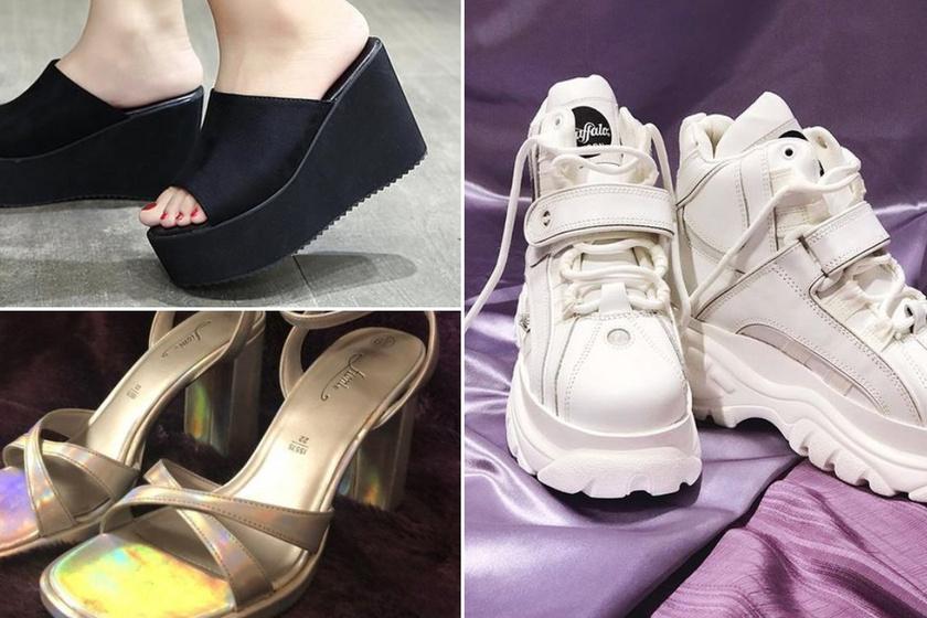 Minden lány ilyen cipőre vágyott a 90-es években: emlékszel a buffalóra és a platformos papucsra?