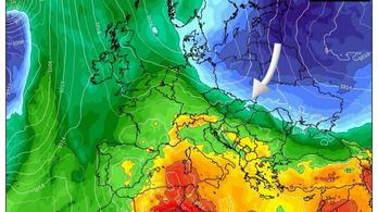 Vasárnap újabb adag sarkvidéki levegő érkezik záporokkal, zivatarokkal