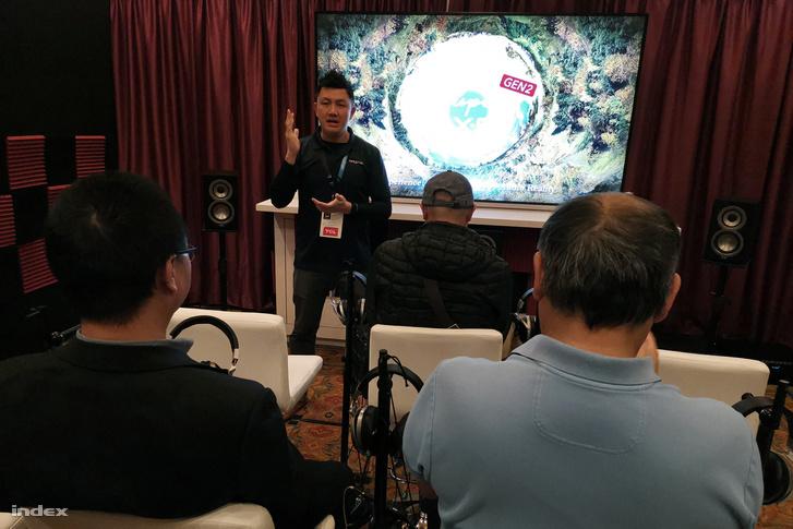 SXFI demo Las Vegasban, a 2020-as CES-en.