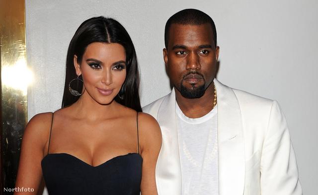 Kardashian, és jelenlegi partnere, Kanye West