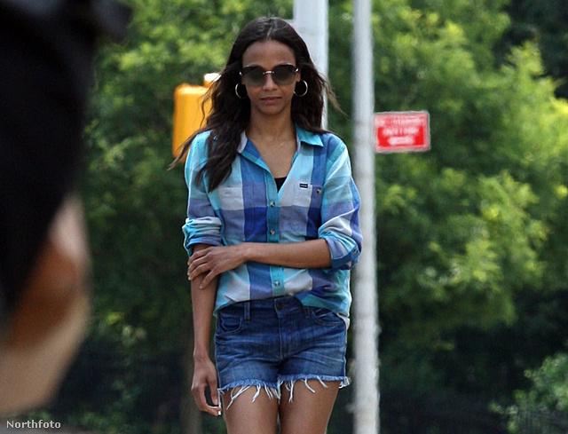 Zoe Saldana forrónadrágban június 14-én