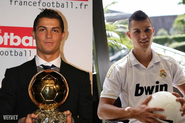 Cristiano Ronaldo és Kotroczó Roland