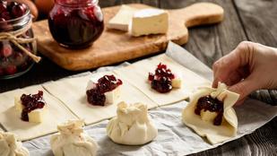 Tökéletes vacsora: töltsd meg a leveles tésztát gyümölcsökkel és camembert-rel!