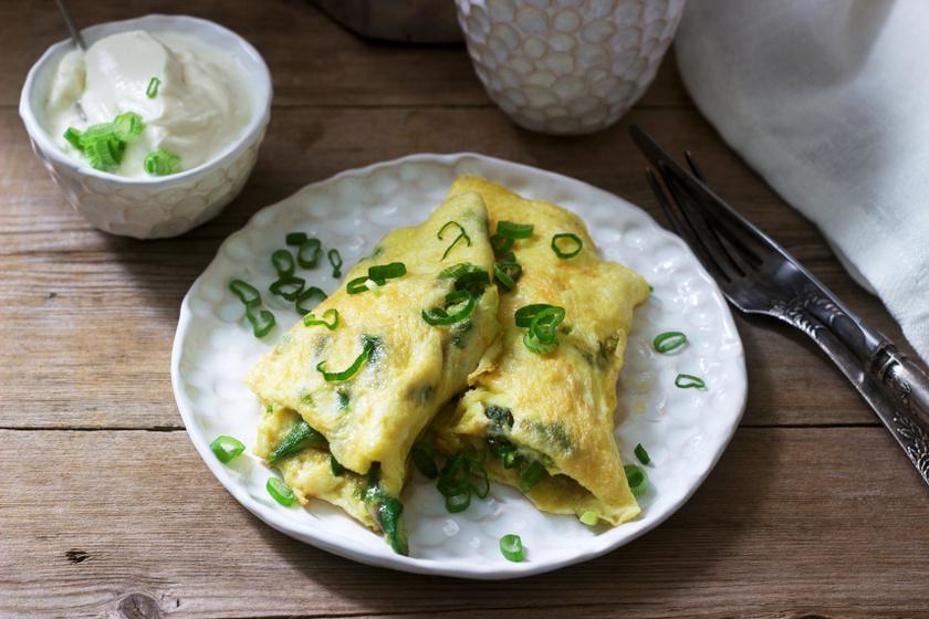 spárgás omlett recept