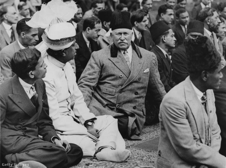 Baron Headley a Shah Jahan mecsetben 1930 körül