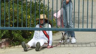 Andie MacDowell a kerítés alatt átkúszva távozott egy lezárt parkból