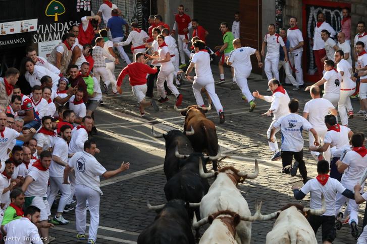 Tavalyi bikafuttatás Pamplonában július 13-án