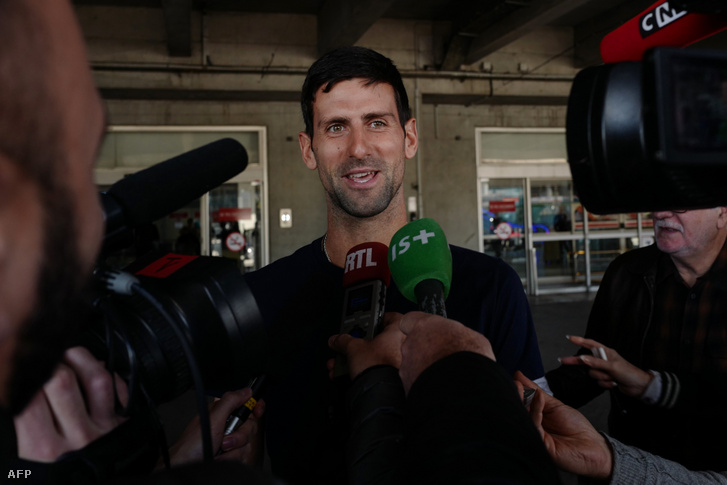Novak Djokovic 2020. február 4-én