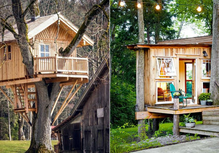 A lombházak nagy része strapabíró akácból készül, a kerti bútorok királyából. Az akác világosbarna színe pompásan harmonizál a környezettel.