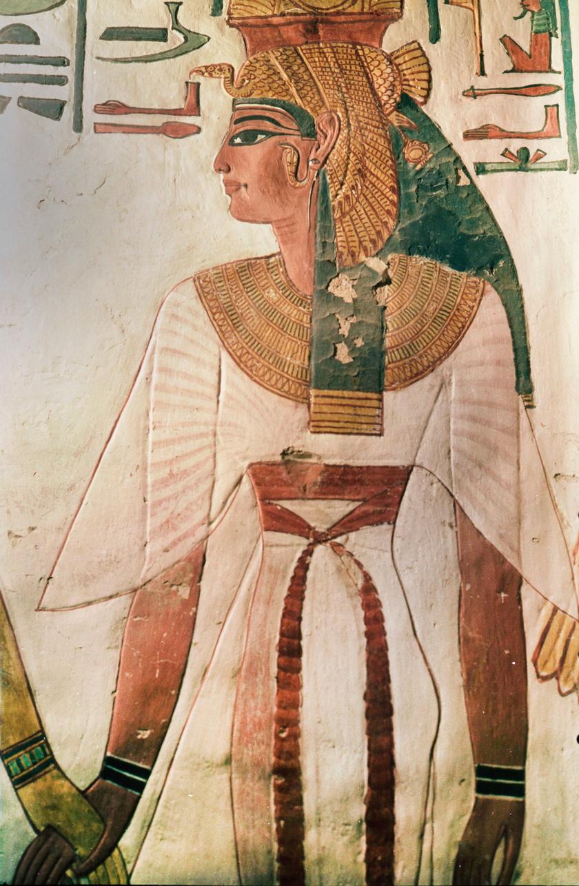 A freskókon is jól látszik, hogyan sminkelték magukat az egyiptomi nők.