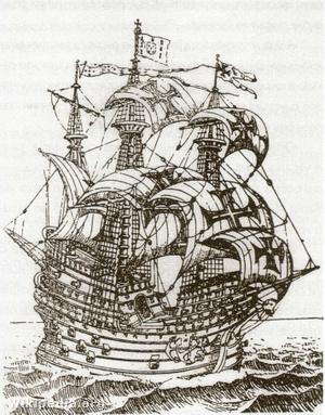 A Flor de la Mar egy 16. századi portugál metszeten