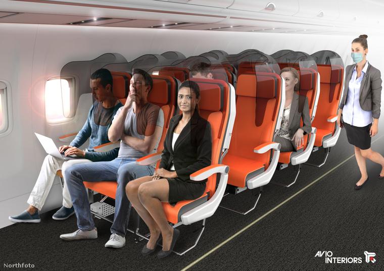 Ennek a megoldásnak az az előnye, hogy nem kell teljesen átépíteni a repülőgépeket, elég egy a kagylószerű műanyagot rátenni az ülésekre, melyek elválasztanak a szomszédos széken utazótól